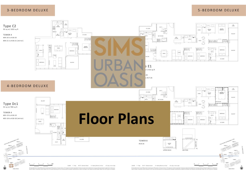 Sims Urban Oasis floor plans thumbnail