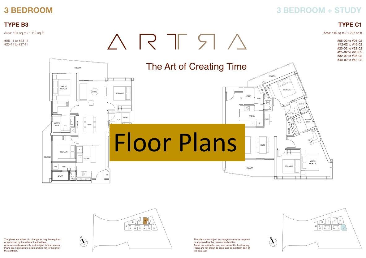 Artra floor plans thumbnail