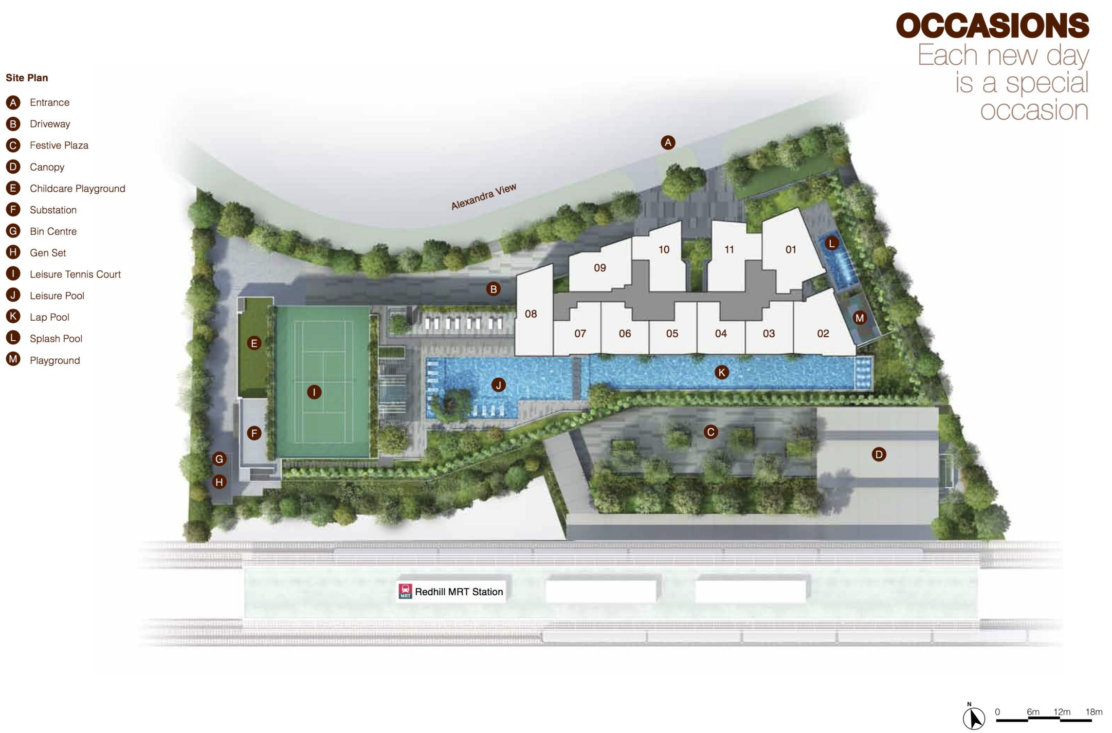 Artra site plan and level 1 facilities