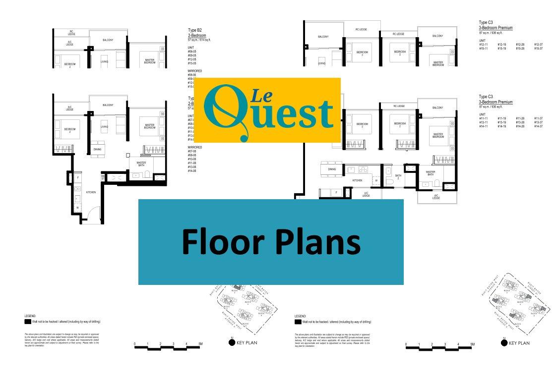 Le Quest floor plans click here