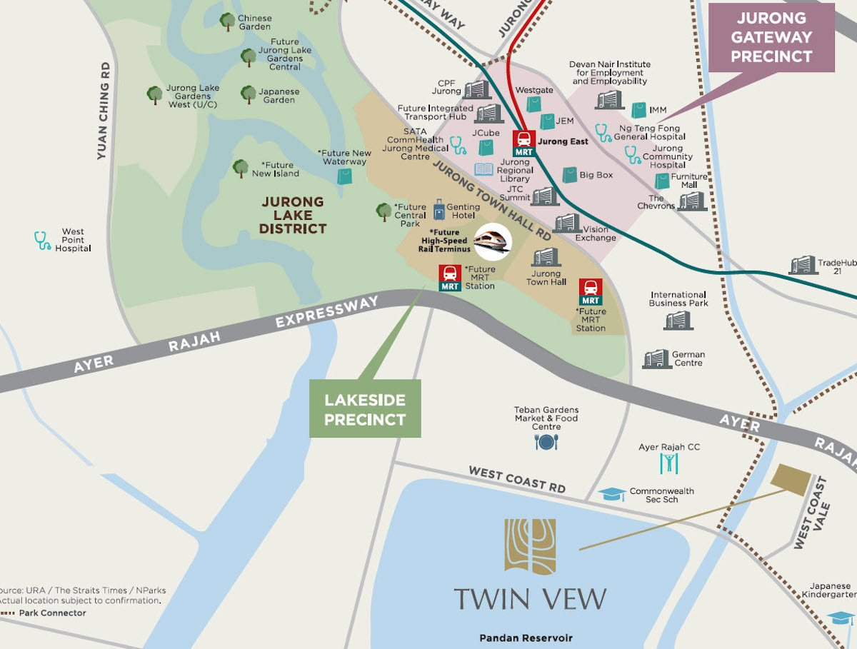 Twin Vew condo Location Map developer near Jurong Lake District and Clementi