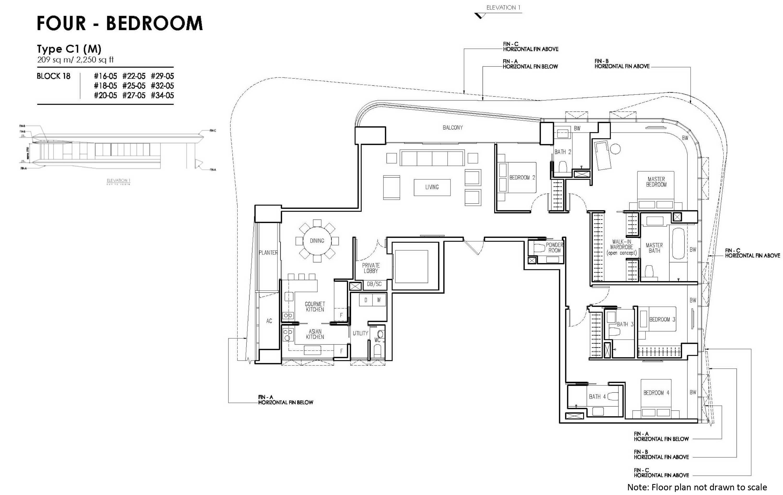 new futura 4 bedroom unit type C1 (M)