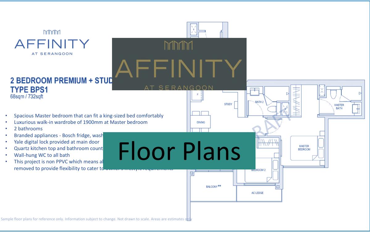 Affinity At Serangoon floor plans