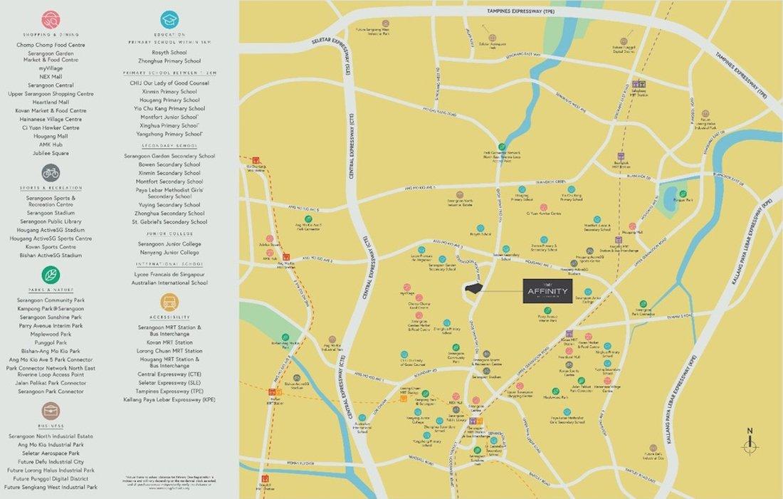 Affinity At Serangoon location map