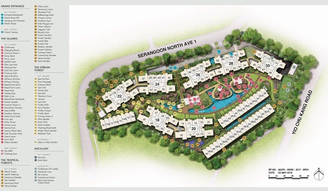 Affinity At Serangoon site plan