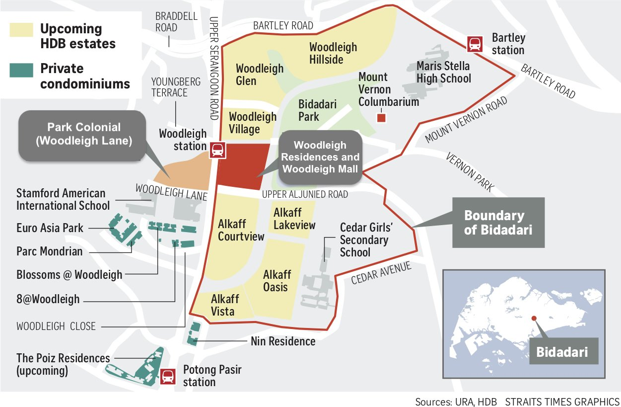 Park colonial location map by the straits times