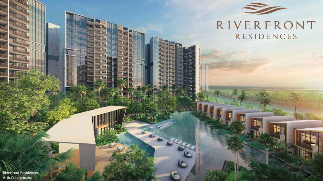 Riverfront Residences lap pool landed house riverfront