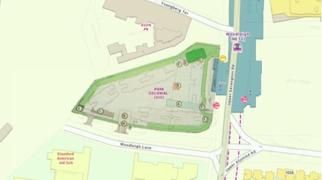 park colonial draft site plan