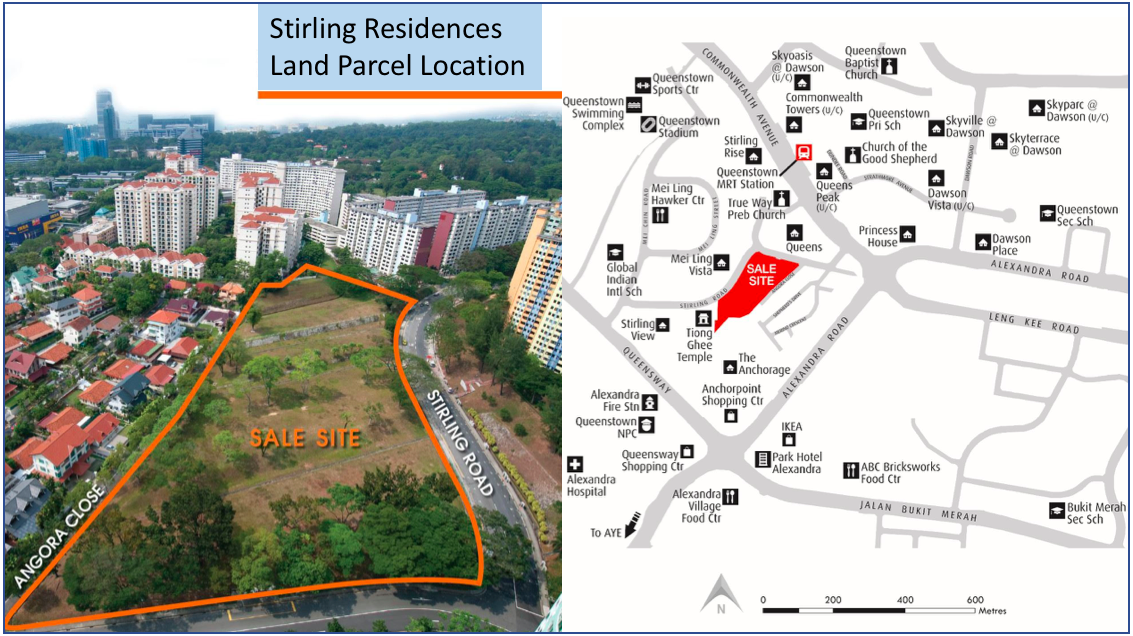 stirling residences location map and amenities URA