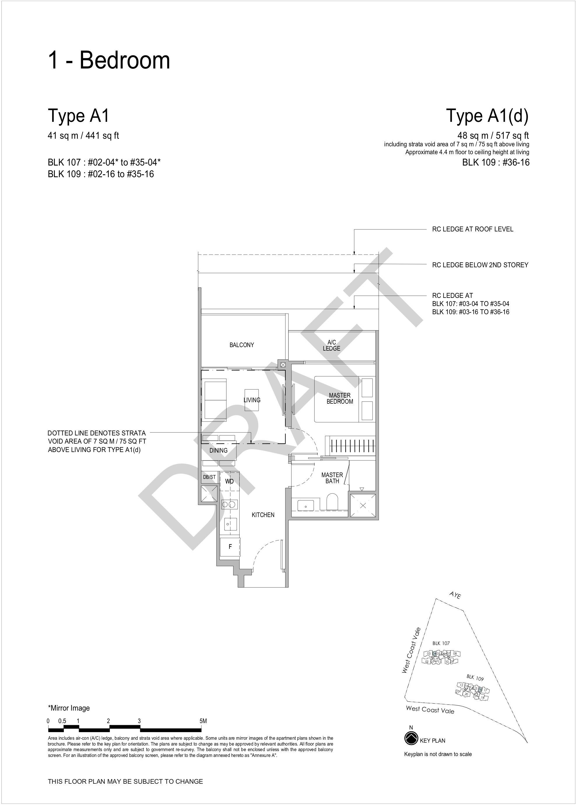 Whistler Grand 1 bedroom floor plan A1