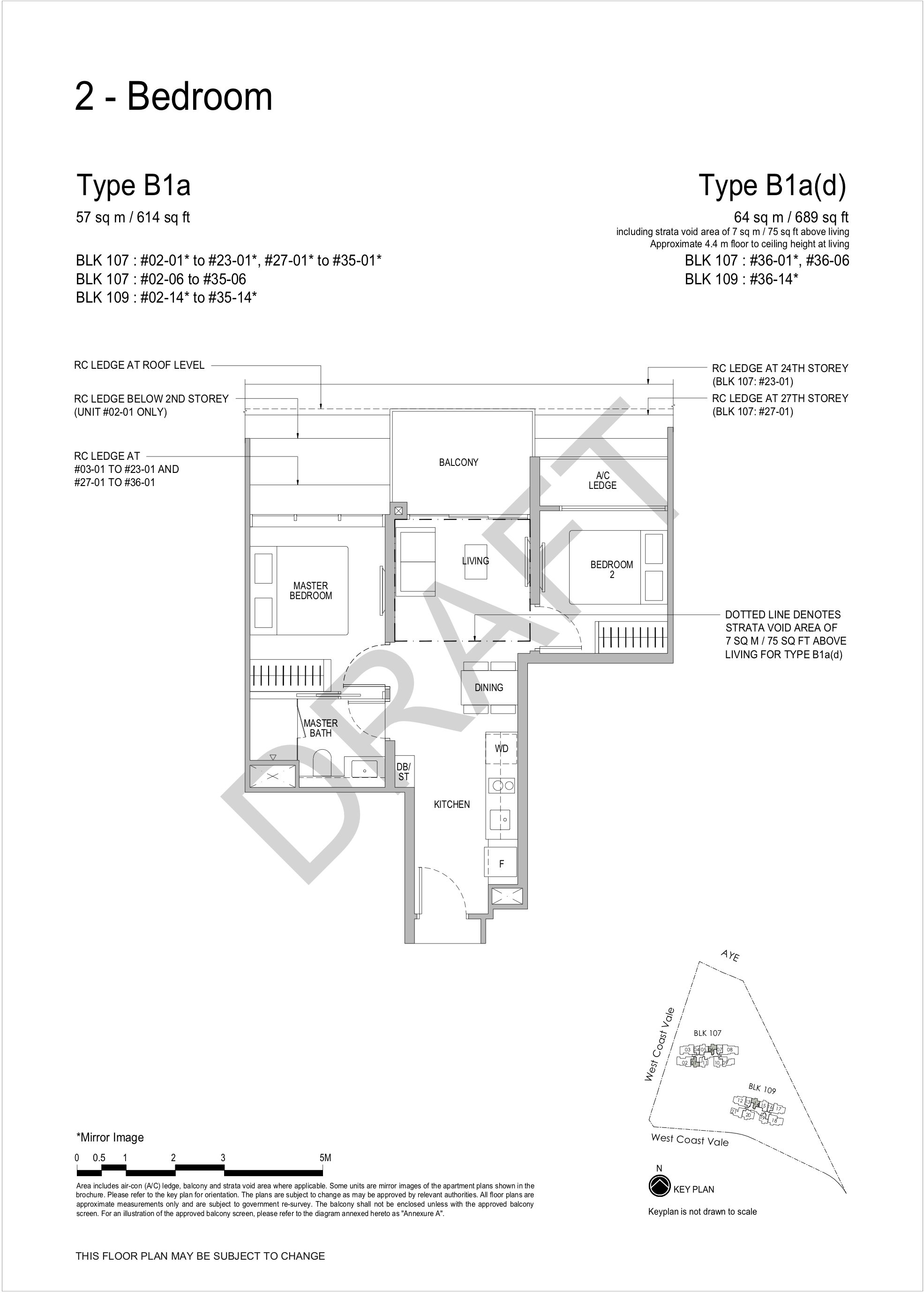 Whistler Grand 2 bedroom floor plan B1a