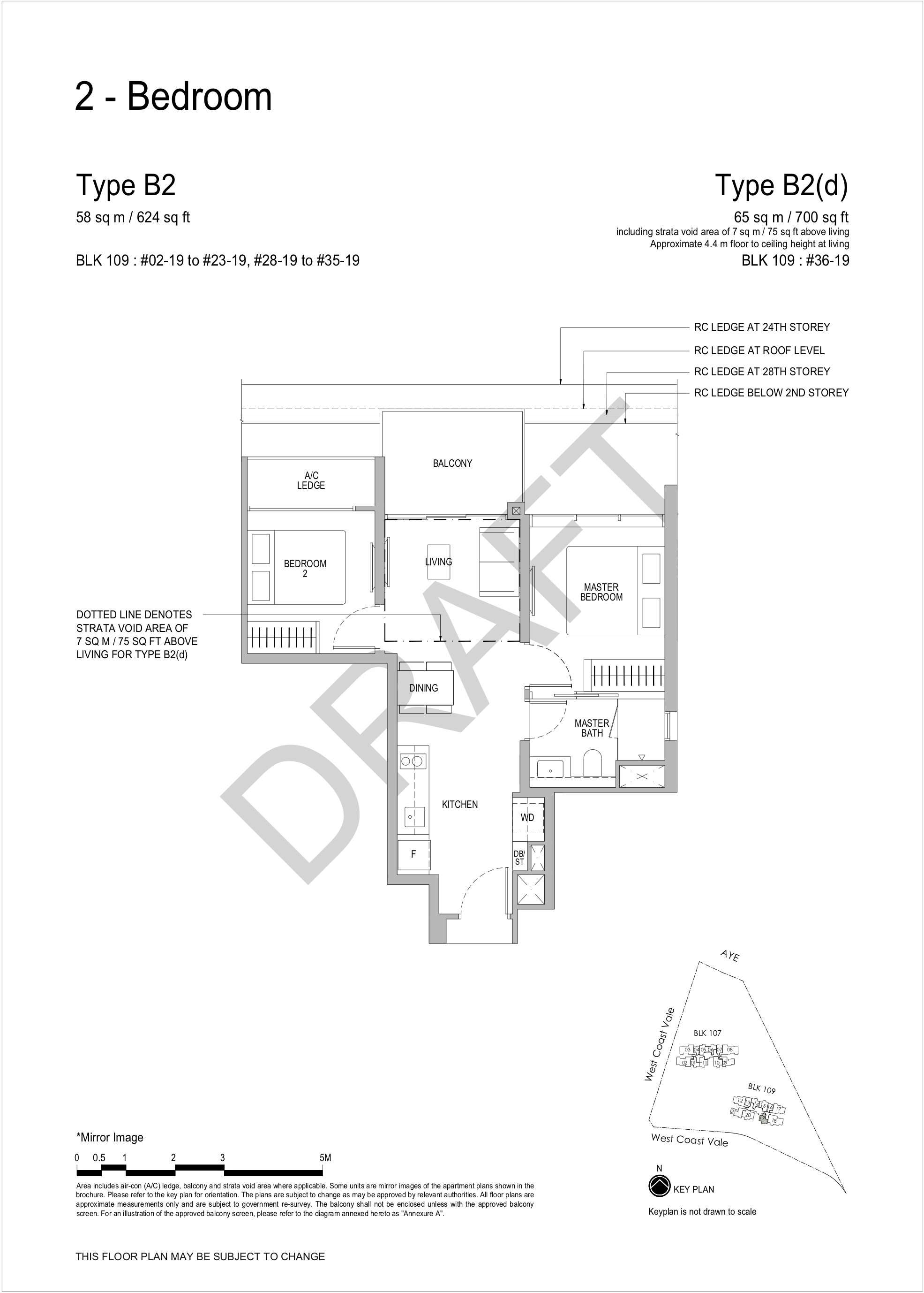 Whistler Grand 2 bedroom floor plan B2