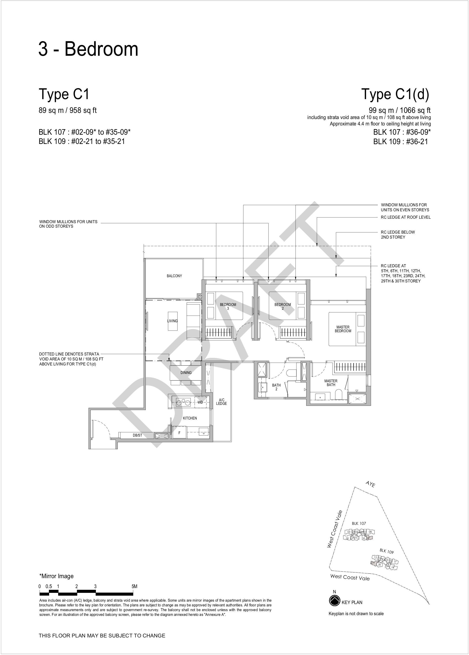 Whistler Grand 3 bedroom floor plan C1