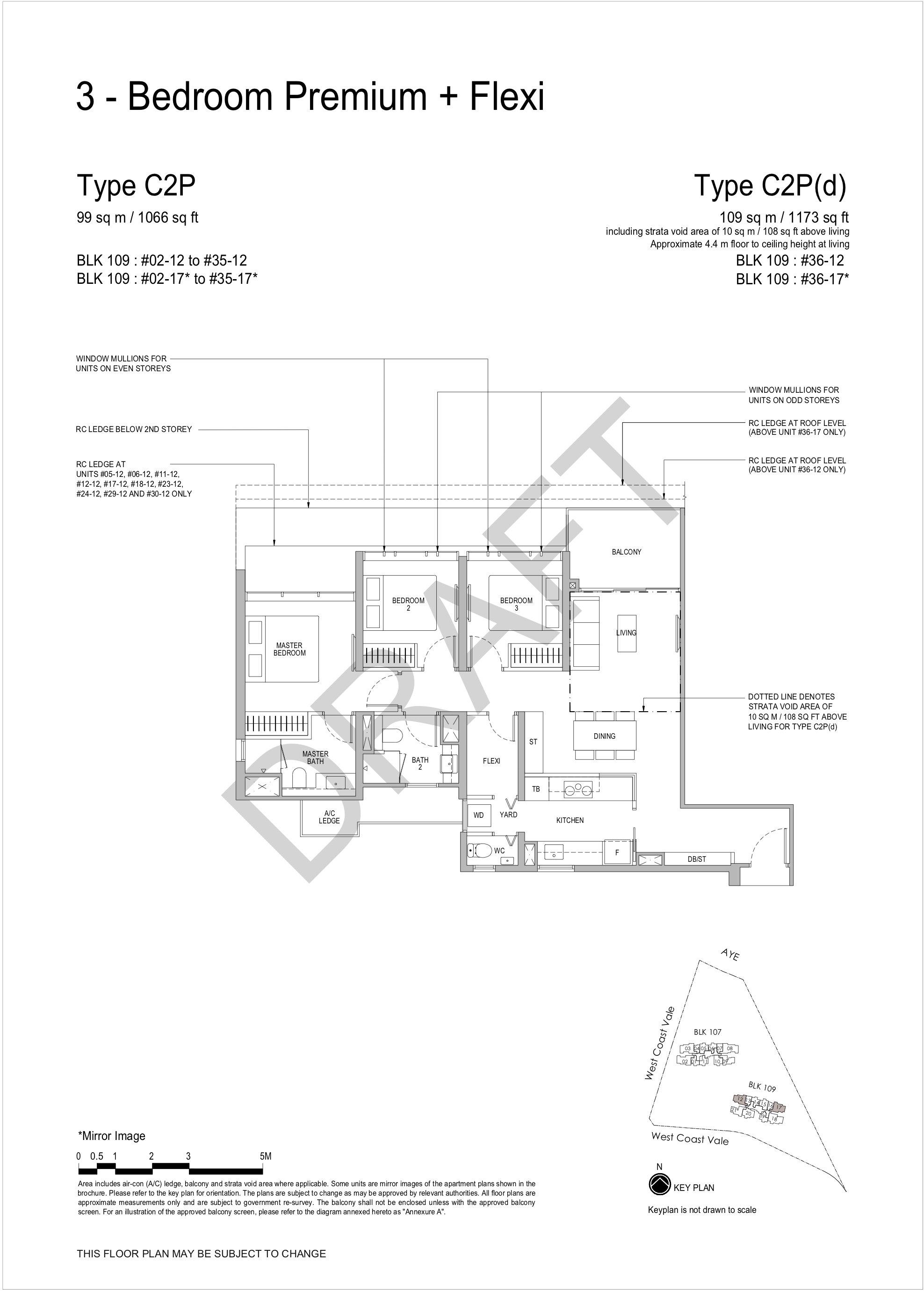 Whistler Grand 3 bedroom premium flexi floor plan C2P