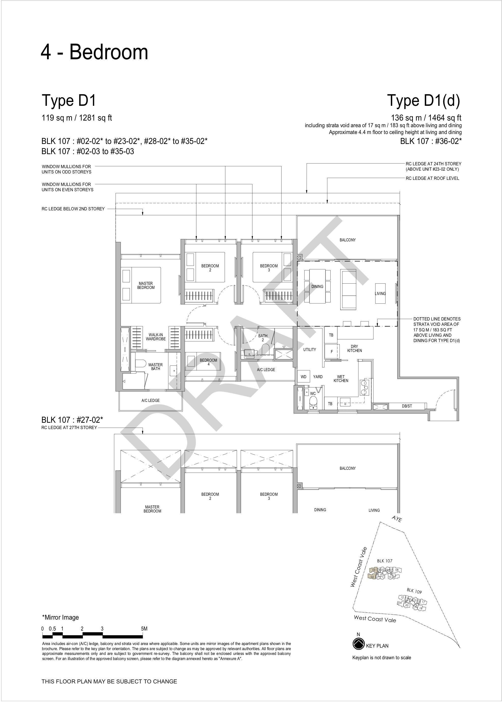 Whistler Grand 4 bedroom floor plan D1