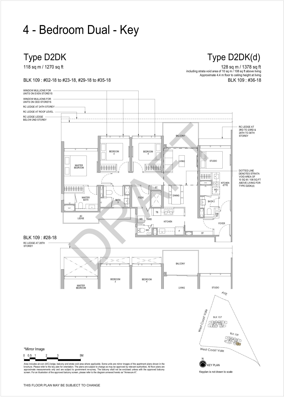 Whistler Grand 4 bedroom floor plan D2DK