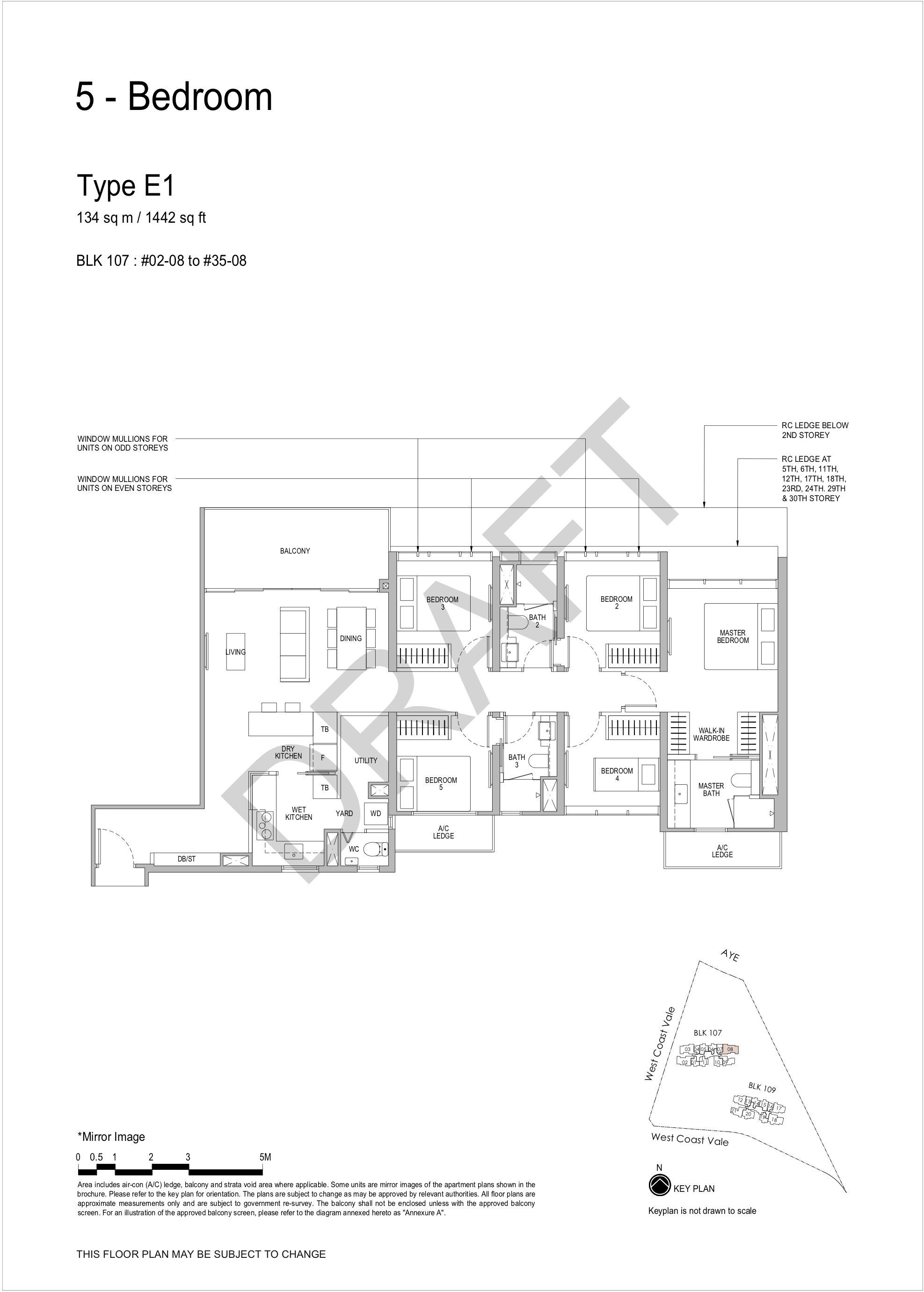 Whistler Grand 5 bedroom floor plan E1