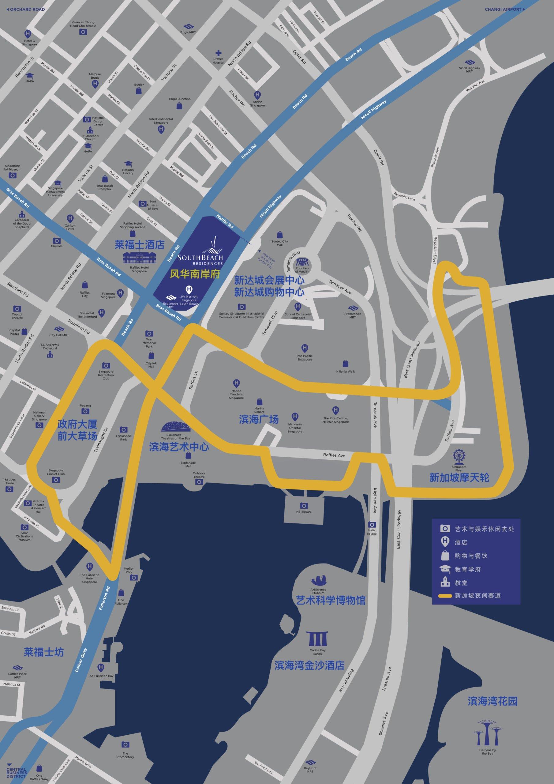 South Beach Residences 风华南岸府地段地图