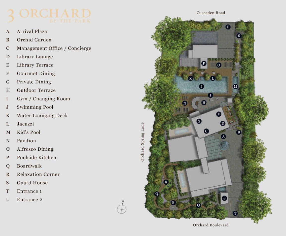 乌节三翠林 3 orchard park site plan