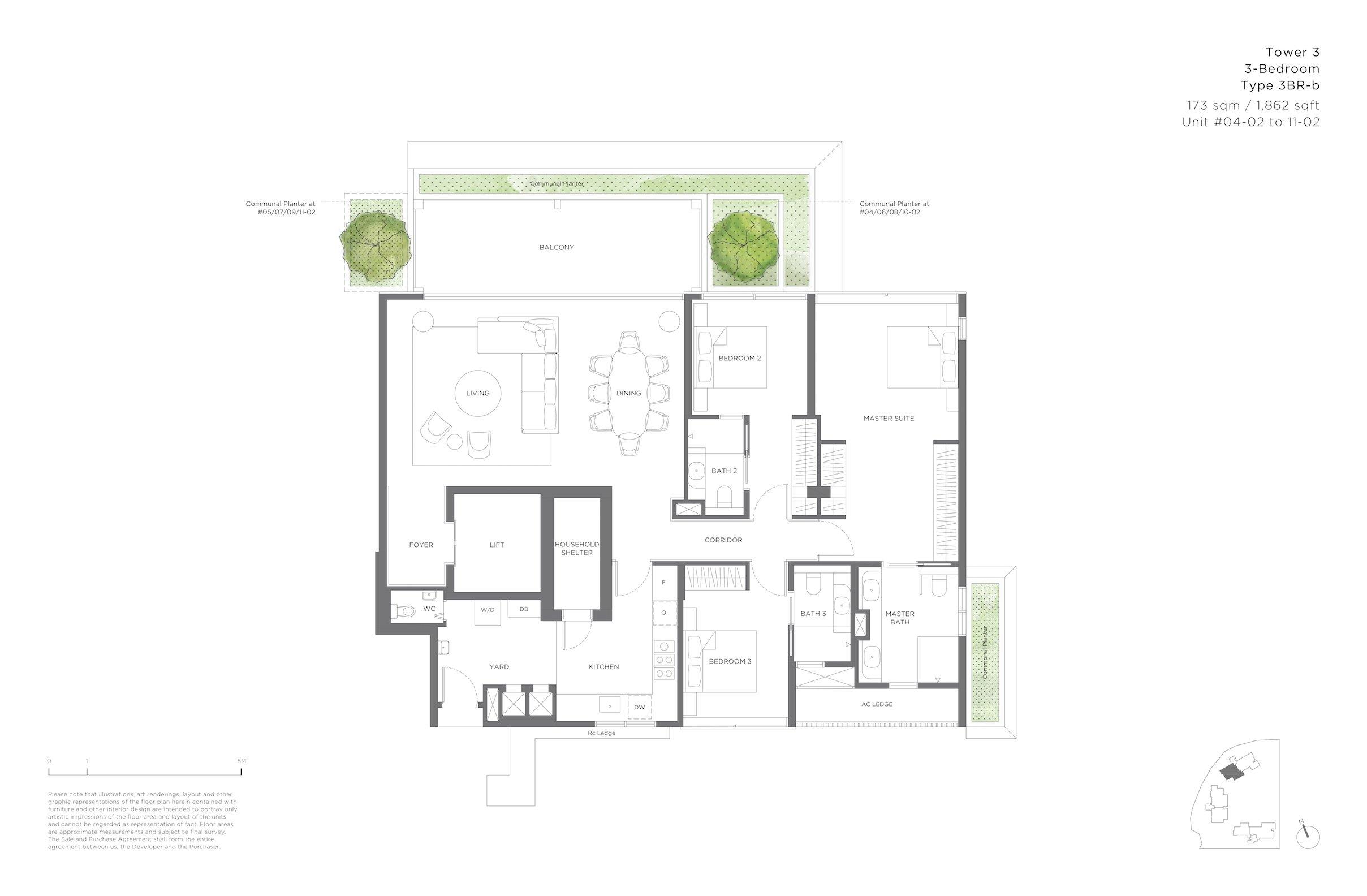 15 Holland Hill 荷兰山公寓 3-bedroom 3br-b