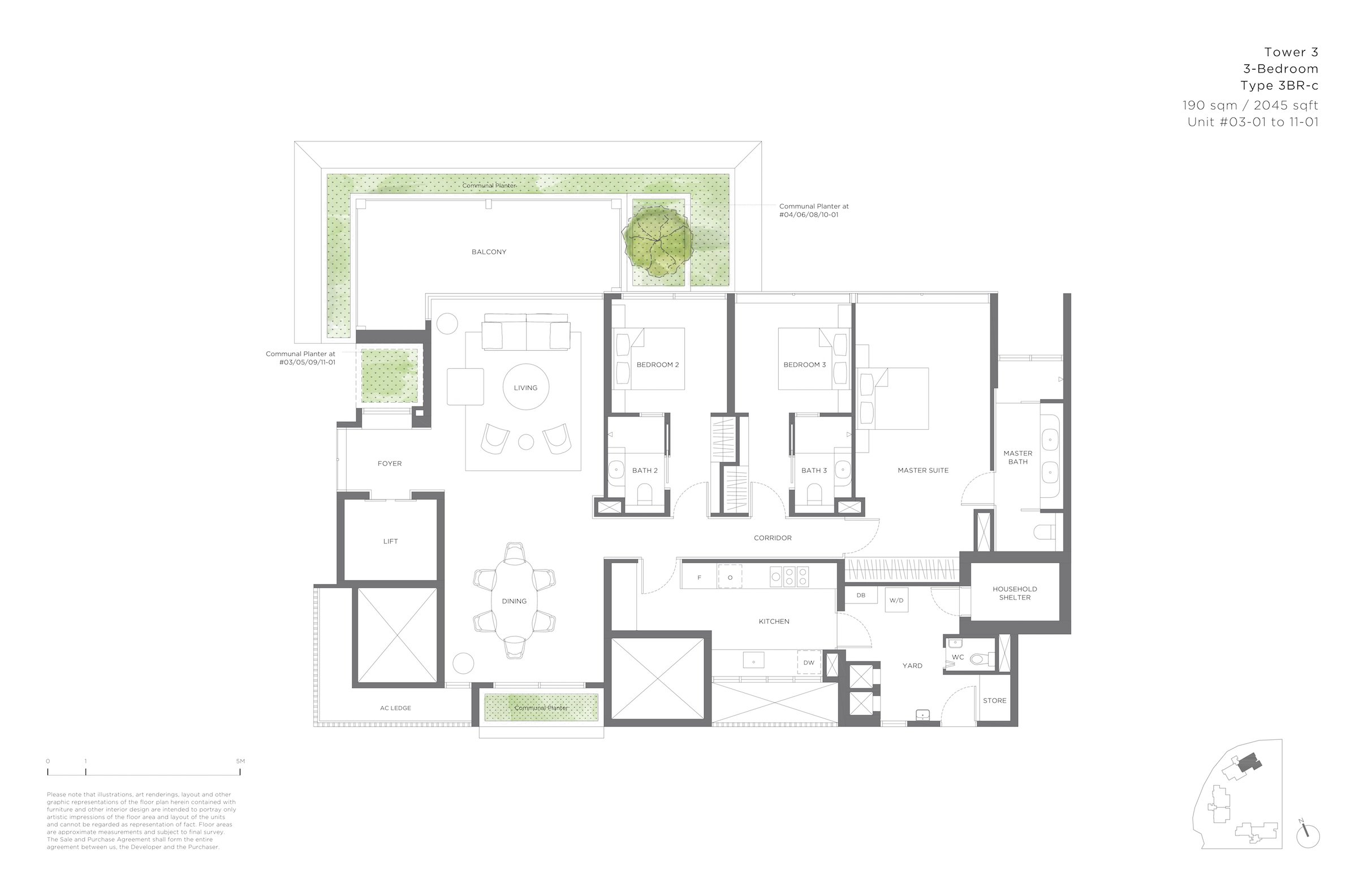 15 Holland Hill 荷兰山公寓 3-bedroom 3br-c