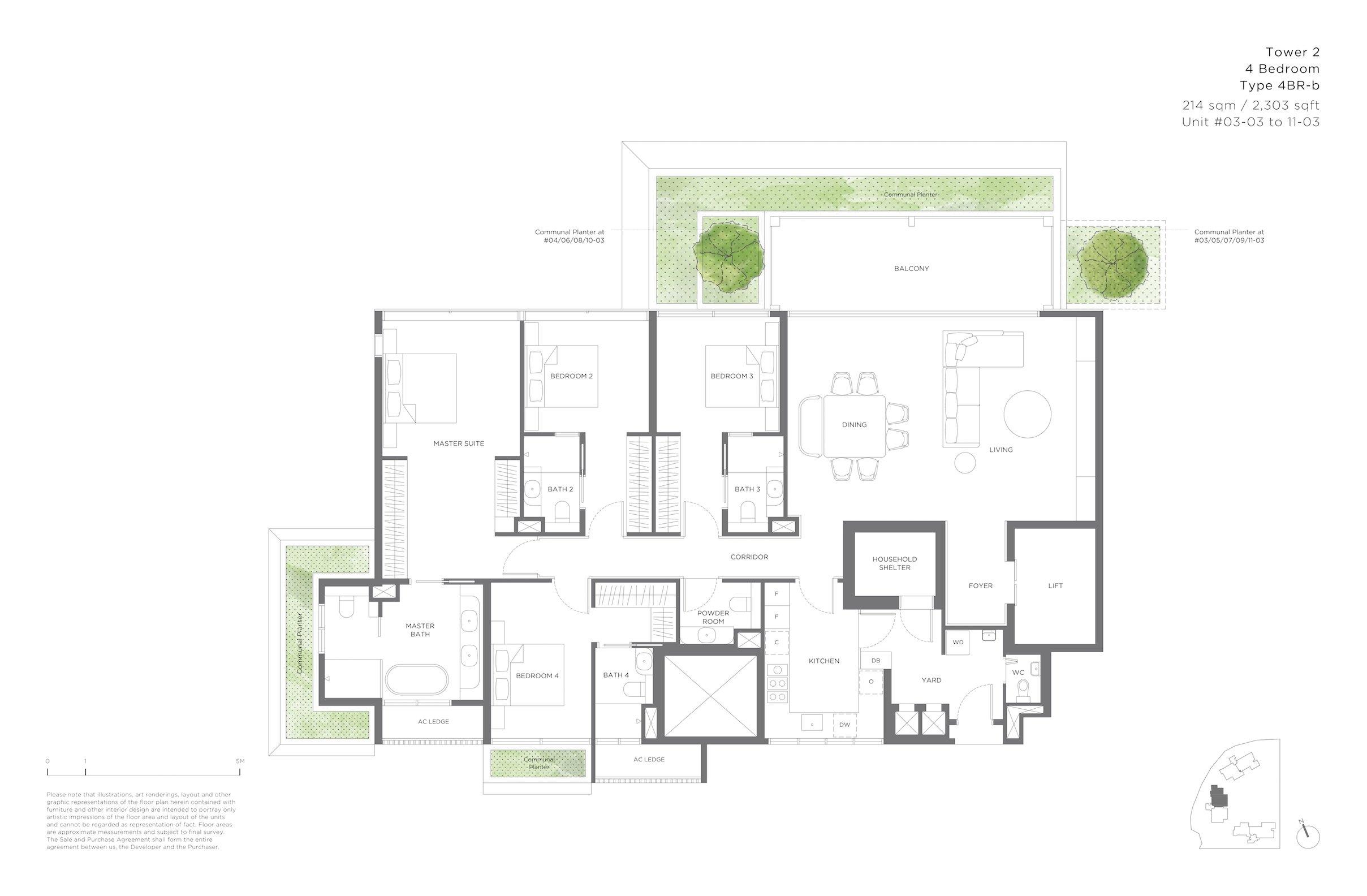15 Holland Hill 荷兰山公寓 4-bedroom 4br-b
