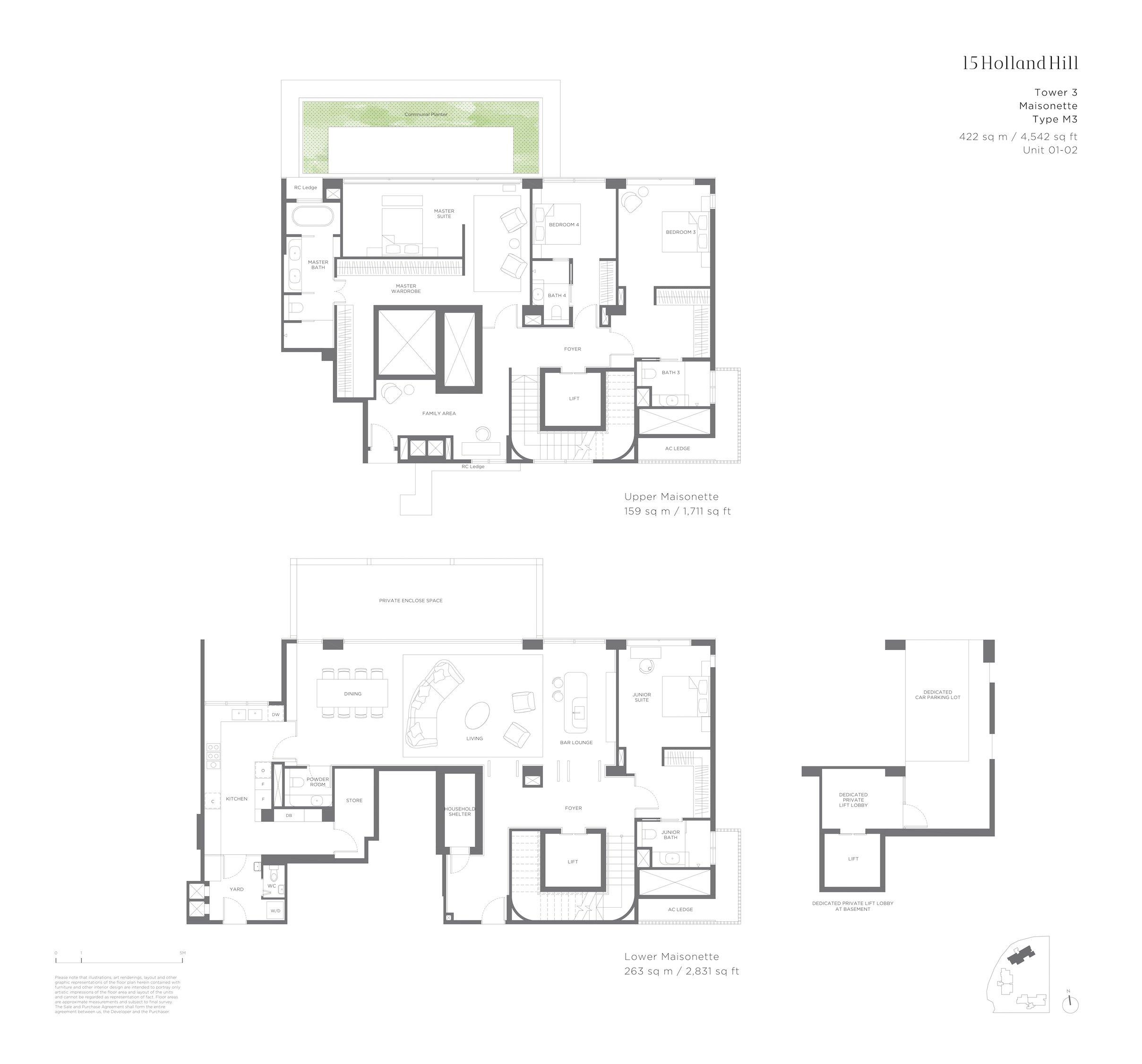 15 Holland Hill 荷兰山公寓 4-bedroom Maisonette m3