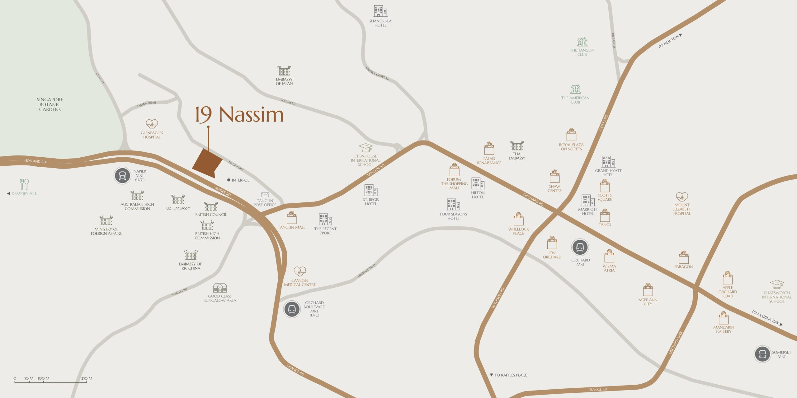19 Nassim 纳森山公寓 location map