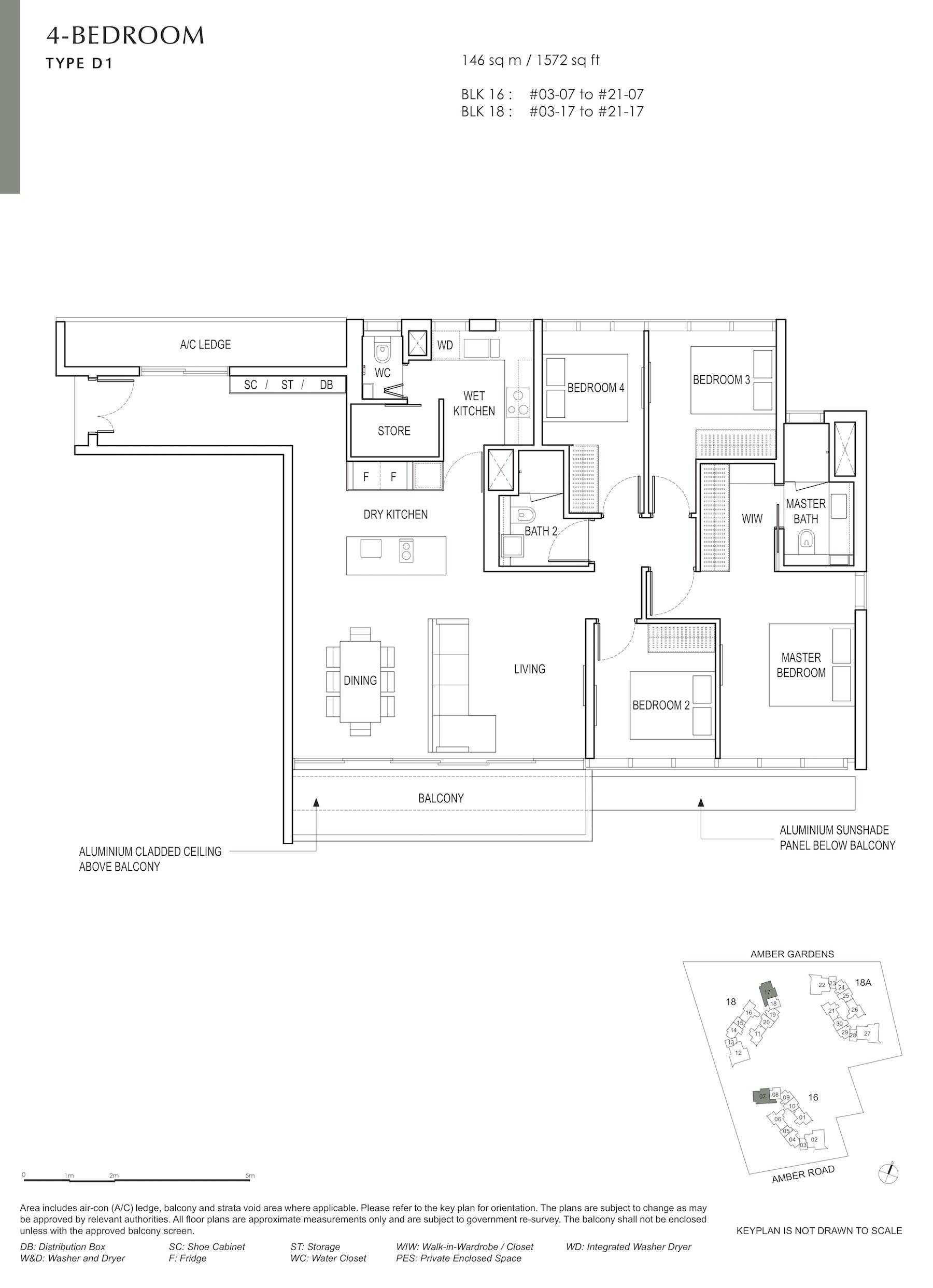 Amber Park 安铂苑 floor plan 4 bedroom 4卧房 D1
