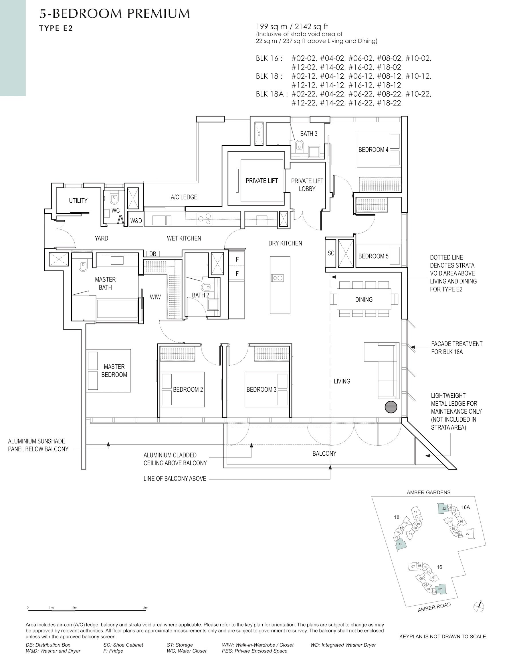 Amber Park 安铂苑 floor plan 5 bedroom premium 5卧房优质 E2