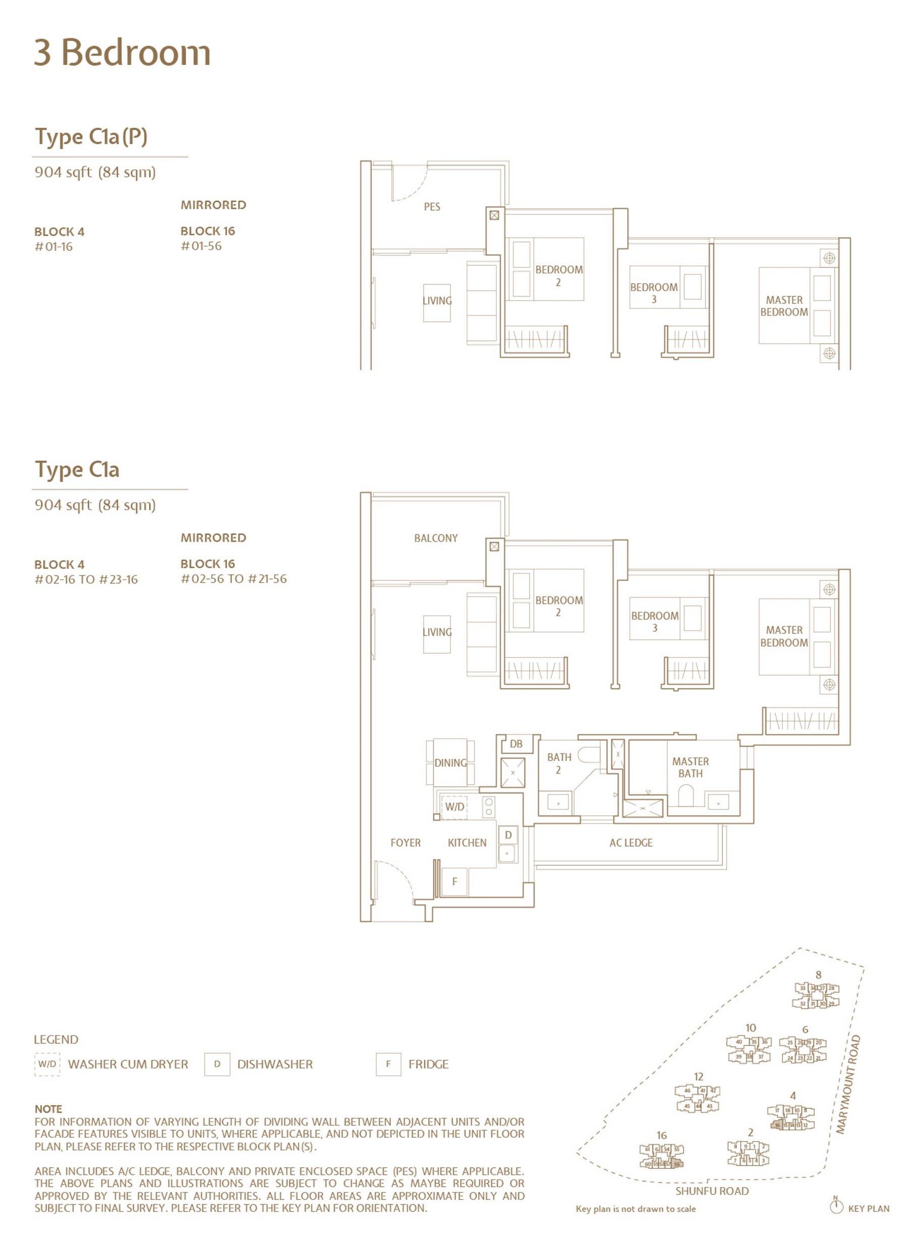 Jadescape 顺福轩 condo 3 bedroom type C1a