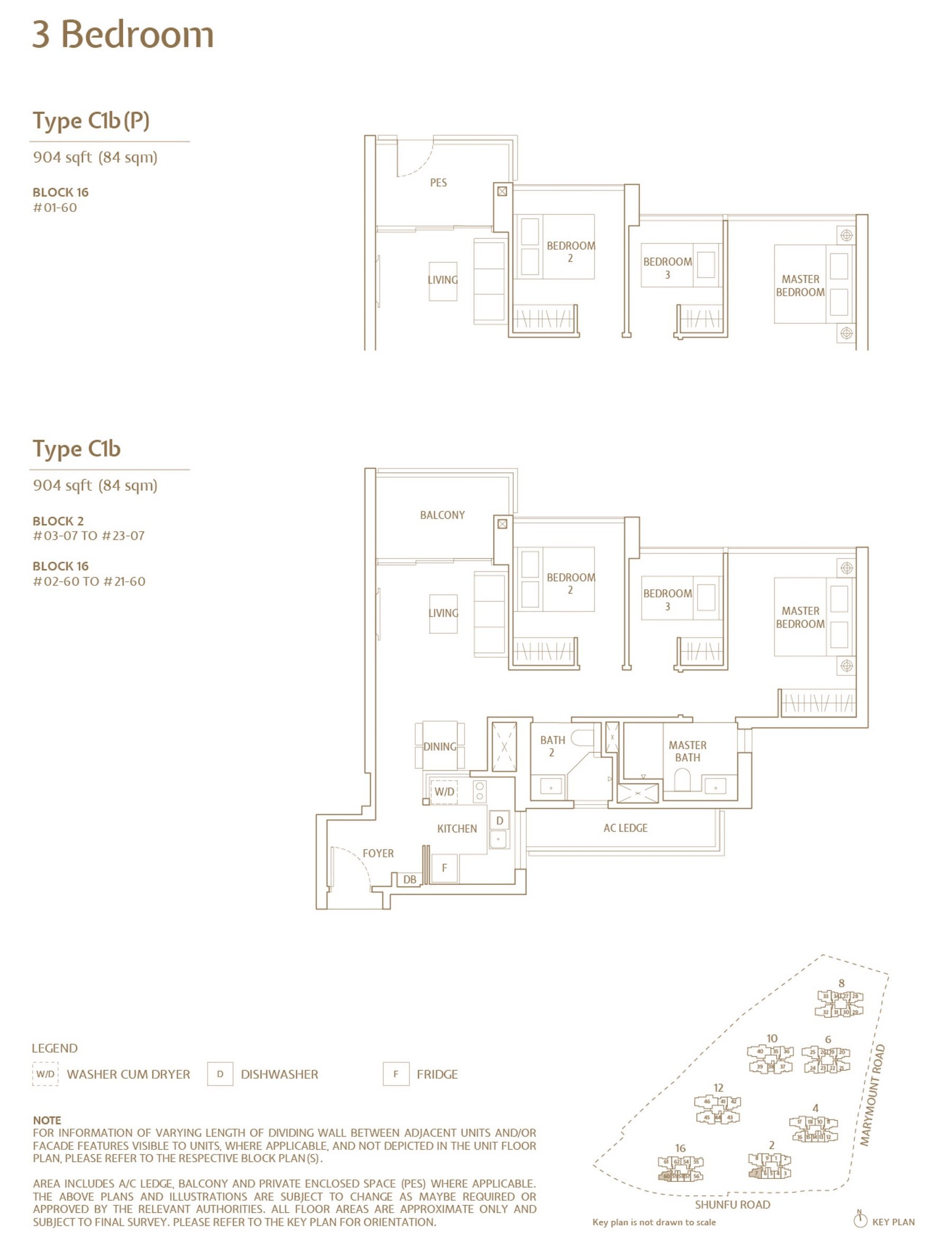Jadescape 顺福轩 condo 3 bedroom type C1b