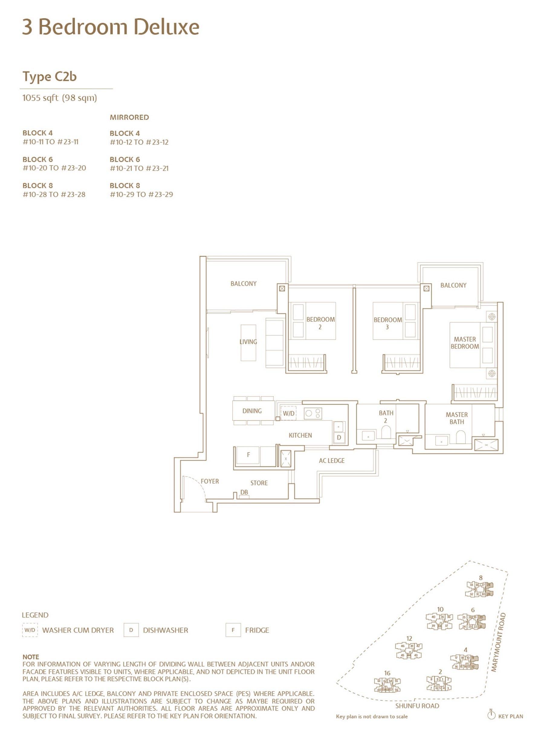Jadescape 顺福轩 condo 3 bedroom type C2b