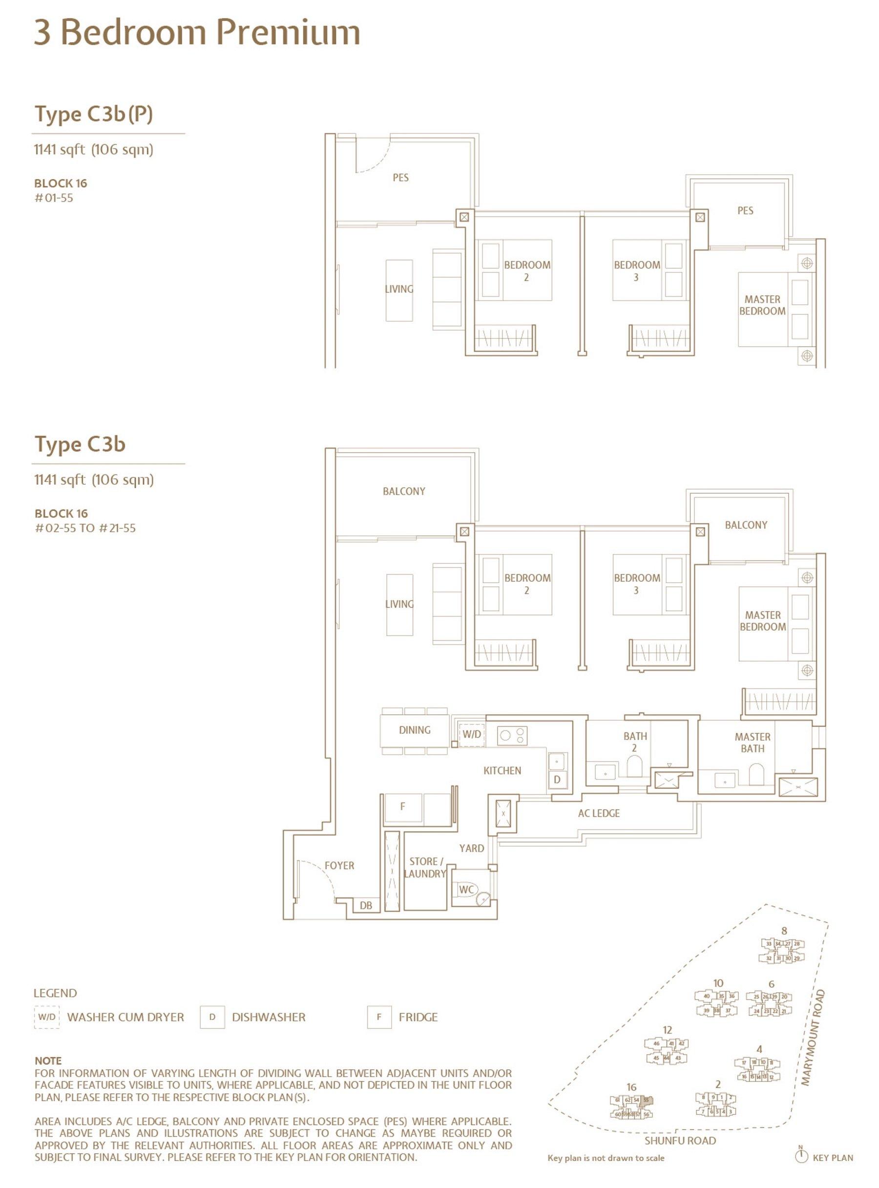 Jadescape 顺福轩 condo 3 bedroom type C3b