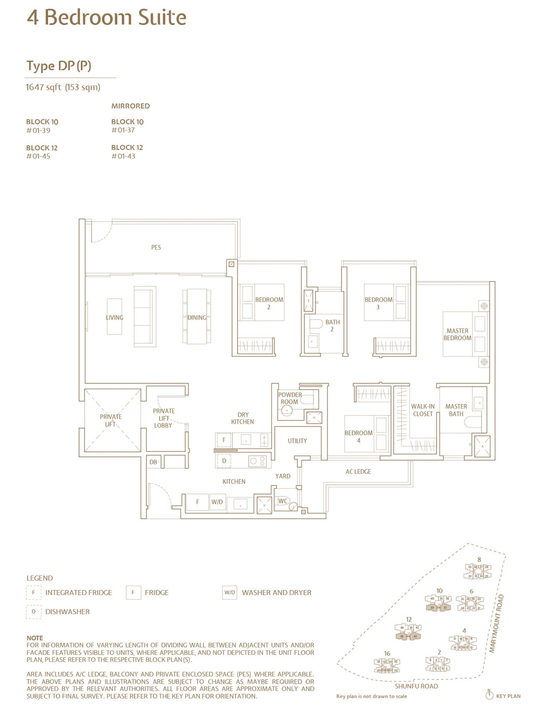 Jadescape 顺福轩 condo 4 bedroom type DP(P)