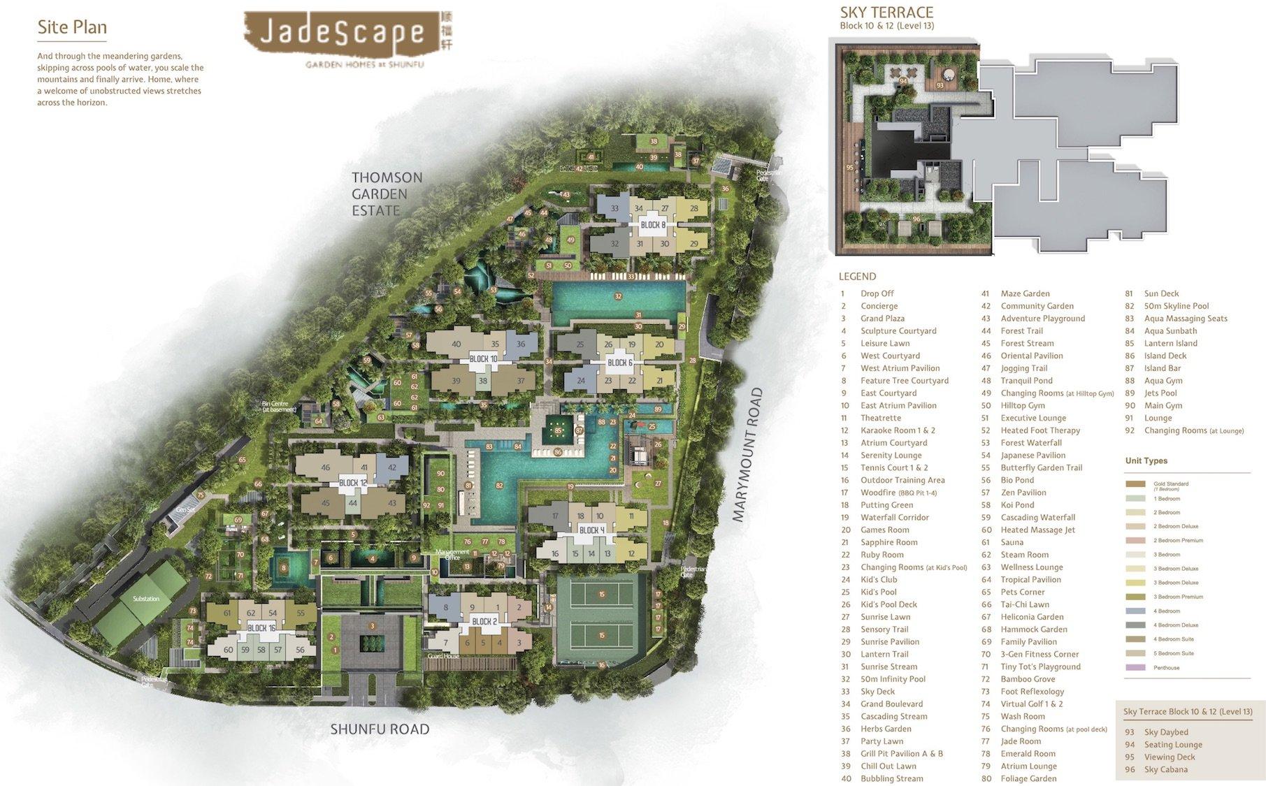 Jadescape 顺福轩 condo site plan facilities