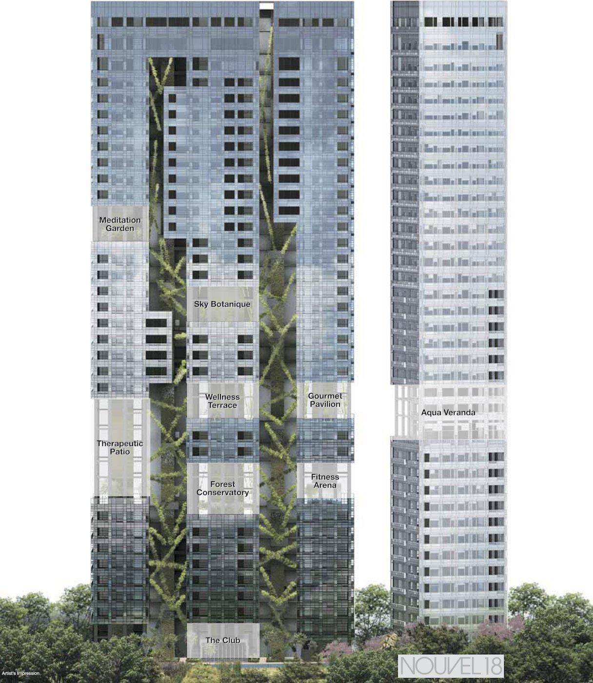 Nouvel 18 condo 明筑公寓 schematic diagram facilities