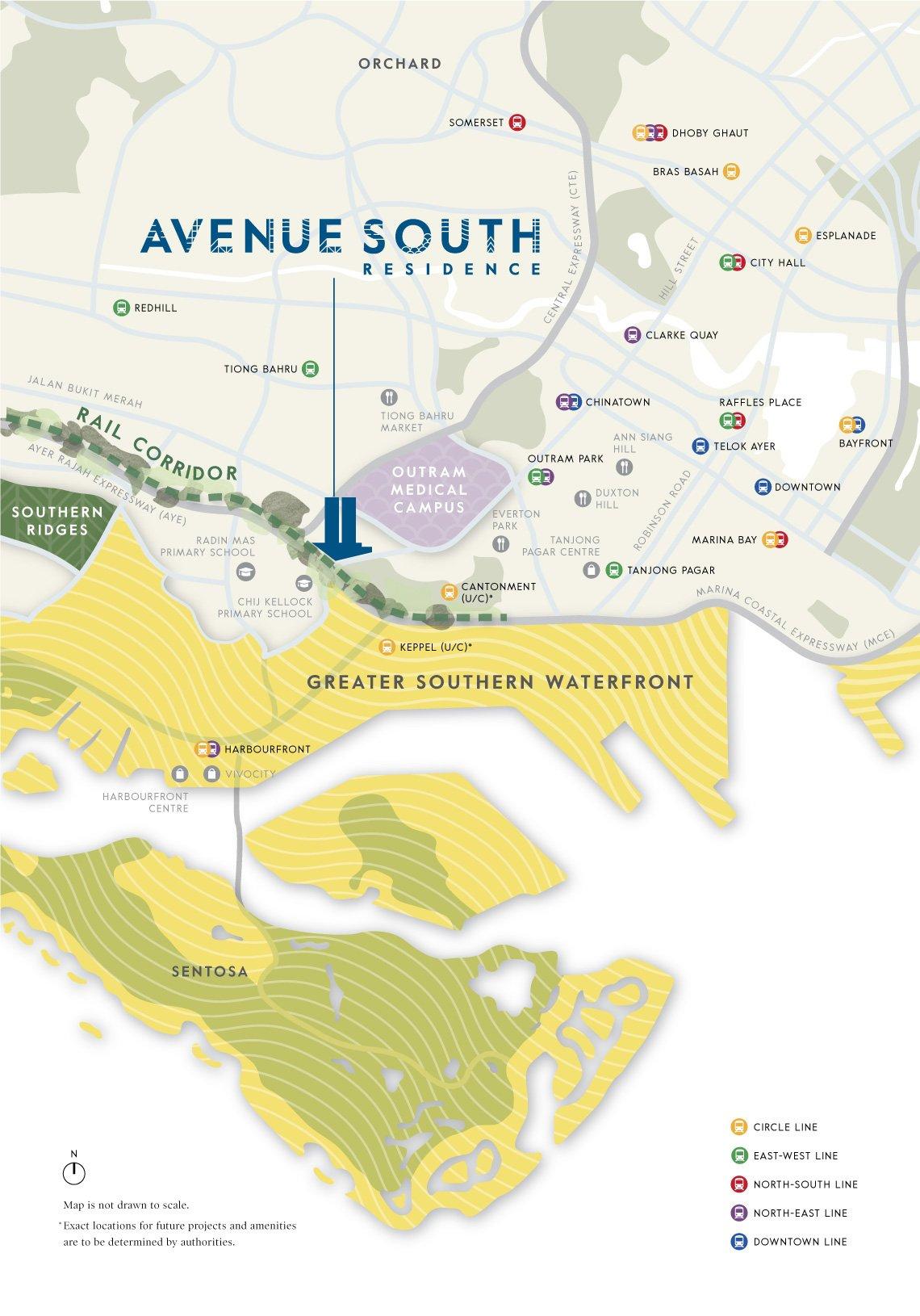avenue south residence 南峰雅苑 location map