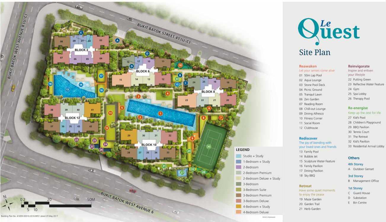 Le Quest Site Plan facilities